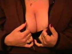 4 min - My mature wifey plays with her hooters and rubs my hard pecker