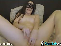 5 min - Mysterious live chat babe fucks Her cunt and butt