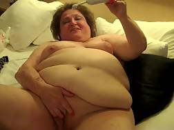 4 min - Inventive vagina play with my fat whore