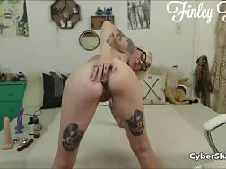 10 min - Kinky light haired with Tattoos jerking
