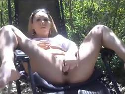 3 min - My sexual and naughty blonde wife wanks at the picnic