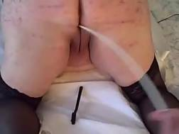 4 min - Fat whore gets her vagina used in new and more unusual ways.