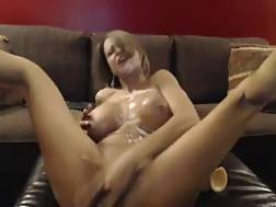 18 min - Passionate and insane boobed live chat whore in wicked masturbation session