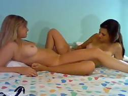7 min - 2 sweet white lesbian ladies warm up on live chat