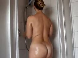 4 min - Private solo with my big-assed wifey taking a shower