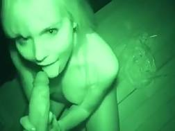 12 min - Blond prostitute shows her cunt and gives head to me