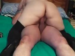 8 min - My fatty wife wearing high boots rides my cock in home made clip