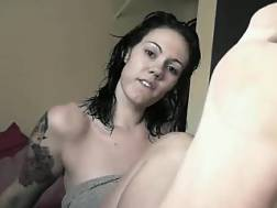 8 min - Livecam foot fetish video with my new tattooed black haired friend