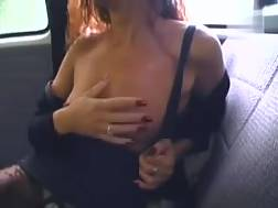 19 min - Ugly mature skank toys her vagina in a car and gives me a hj