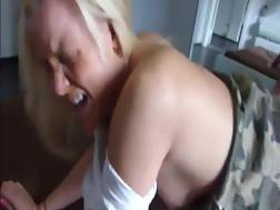 6 min - Horny blondie MILF takes a big cock up her tight butthole