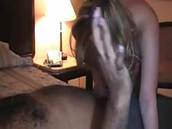 3 min - Gorgeous blond babe chokes on my black monster enjoy schlong