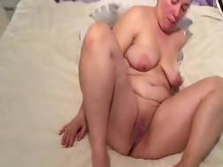 4 min - Bbw black haired mom with big breasts rubs her tight vagina