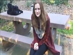 8 min - Slutty teen chick makes her tight pussy squirt hard outdoors