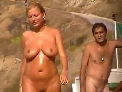 2 min - Big tits at the beach