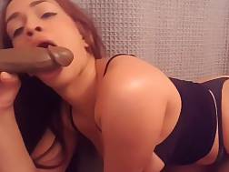 12 min - Sexy sexy latina with a huge ass blowing a fake rod