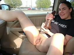 7 min - Cute wifey wanks with a big dildo