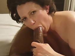 16 min - 58yo mature wife enjoys younger big black cock