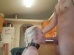 6 min - Submissive hot blondie takes a big facial