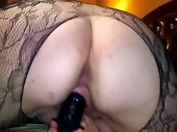 2 min - Anne penetrating her big black dildo