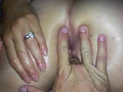 5 min - My wifey getting sloppy playing with toys & letting me jizz into