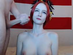 76 min - Adorable redhead with ideal jugs penetrated and jizzed