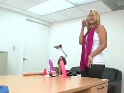30 min - Hot light haired amateur mother in office visit bang