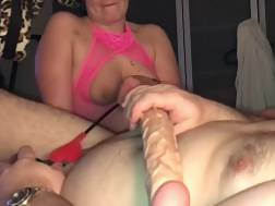 7 min - Horny German wifey playing with husbands butthole