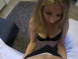 9 min - Blond girlie stroking, sucking and licking my pecker