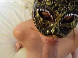 4 min - Hot nymph with a classy mask gets sperm in mouth