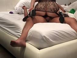 8 min - Wife fingering her ass while riding a dick