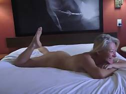 5 min - Blondie wife finally gets to be shared between 2 men