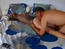 5 min - Gf in heels getting banged hard in the bed
