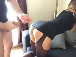10 min - Perfect amateur gf in retro stocking gets an ass creampie