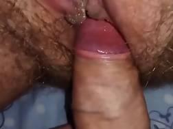 2 min - Closeup shot of a prick fuckin a unshaved vagina