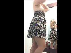 10 min - Lovely chick in a dress decides to train her ass