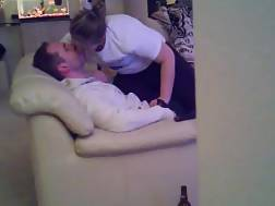14 min - Hubby sitting on the couch & getting a blow job