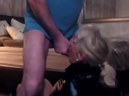 2 min - Leather suit on this blond German bitch makes him drill her hard