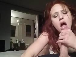2 min - Amateur red-haired hotty gives an great hj