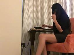 10 min - Sexy girlie posing in her secretary outfit for you