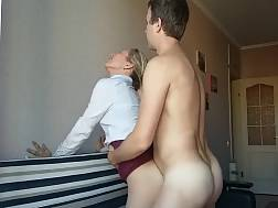 3 min - Sweet girlie lifts up her skirt for a sexual penetrating session from behind