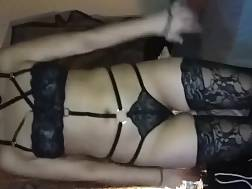 8 min - Girl in sexual underwear enjoys while I bang her tight cunt