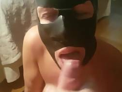 3 min - We bought this mask to make her somewhat kinky :)