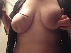 8 min - My huge natural tits & my new black stockings