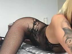 9 min - Putting on body stockings for a solo session with a fucktoy