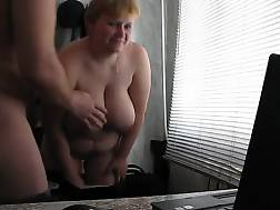 9 min - Fat blondie wife Gets banged In Doggy By Her husband