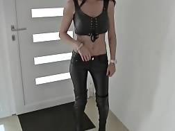 6 min - Tattooed German girl In Leather Gets drilled Hard Doggy Style