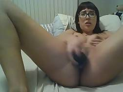 11 min - Cute girlie Wearing Glasses loves To jerk