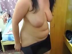 6 min - Fat MILF Sniffs Hubbys underwear and wanks