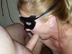5 min - An Amazing blow job From A hot blonde Masked wifey