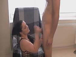 6 min - Sucking His Pulsating Boner After He Slams Her Hard